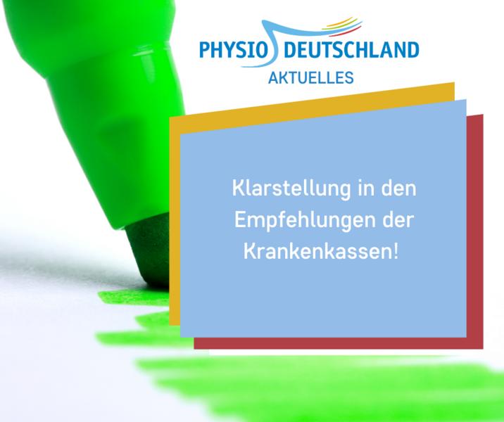 Deutscher Verband Fur Physiotherapie Zvk Fachkreise Coronavirus